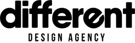Dizaina aģentūras Different logo melns